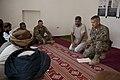 U.S. Army Maj. Eugene Johnson, right, a Georgia Army National Guard veterinarian with Georgia Agribusiness Development Team III, Regimental Combat Team 7, teaches a veterinary class to staff members with an 130424-M-QZ858-056.jpg
