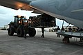 U.S. Marines load palletized equipment onto a KC-130J Super Hercules aircraft in preparation for a humanitarian assistance and disaster relief mission to the Philippines in response to Typhoon Haiyan, Nov. 11 131111-M-SD875-074.jpg