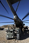U.S. Marines with the 3rd Battalion, 7th Marine Regiment and with Marine Heavy Helicopter Squadron (HMH) 462 load gear on a CH-53E Super Stallion helicopter in Kajaki, Helmand province, Afghanistan, Oct. 7 131007-M-SA716-056.jpg