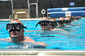 U.S. Navy Basic Crewman Training candidates tread water in a pool while waiting for instructions during their first physical screening test at Naval Amphibious Base, Coronado, Calif., May 11, 2009 090511-N-YS896-051.jpg