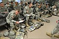 U.S. Soldiers assigned to the 7th Infantry Division and I (First) Corps inventory equipment during a training exercise intended to help them prepare for the Expert Field Medical Badge qualification at Joint Base 130311-A-ER359-068.jpg