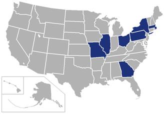 University Athletic Association - Image: UAA USA states