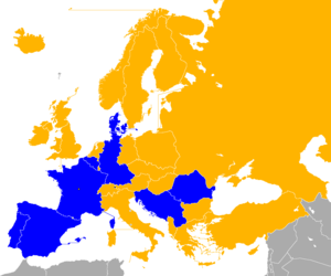 UEFA Euro 1984 qualifying - Image: UEFA Euro 1984 Qualifiers Map