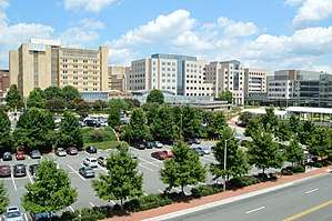 UNC School of Medicine - N.C. Memorial Hospital and N.C. Children's Hospital at UNC Hospitals, the main clinical teaching facilities for the UNC School of Medicine