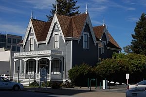 Lathrop House (Redwood City, California) - House viewed from the South