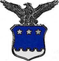 Example of an insignia for an Air Force aide to a three-star flag officer