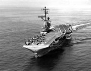 USS Bennington (CVS-20) underway at sea on 5 March 1965 (NH 97581)