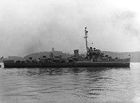 USS Borum (DE-790) anchored off New York City on 26 October 1945 (NH 79820-A).jpg