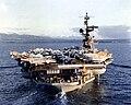 USS Coral Sea (CV-43) approaching Pearl Harbor in 1981.jpg
