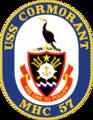 USS Cormorant MHC-57 Crest.png