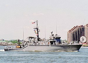 USS Kingfisher on the Hudson River