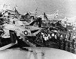 USS Oriskany (CVA-34) fire 1966 A-4s on flight deck.jpeg