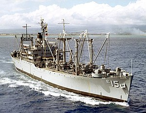 USS Vesuvius (AE-15) underway off Hawaii in 1963