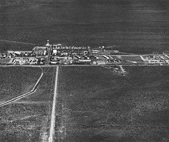 Naval Communication Station Harold E. Holt - Station buildings in 1979.