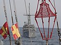 US Navy 020716-N-0394C-047 Mine warfare ship USS Patriot (MCM 7) follows JDS Hachijo (MSO 303) during a mine-countermeasures passing exercise conducted during the ship's transit to her forward-deployed home of Sasebo, Japan.jpg