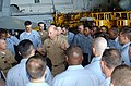 US Navy 020806-N-6268K-002 Chief of Naval Personnel addresses newly selected CPO's in the hangar bay aboard CVN 73.jpg
