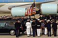 US Navy 040609-N-0502D-121 Ceremonial Honor Guard personnel place the casket of former President Ronald Reagan into his processional hearse.jpg
