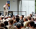 US Navy 041215-N-9563N-001 Chairman of the Joint Chiefs of Staff Gen. Richard B. Myers speaks with Sailors and Marines on board Naval Support Activity (NSA) Bahrain.jpg