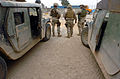 US Navy 050220-N-6967M-292 U.S. Marines and Sailors, assigned to 1st Marine Division, 2nd Battalion, 5th Marines, man one of many checkpoints in Ramadi, Iraq.jpg