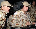 US Navy 050425-N-1825E-068 Royal Australian Navy (RAN) Able Seaman Combat Systems Operators Clint Baird and Mickael Renda operate the combat operations database aboard the guided missile cruiser USS Antietam (CG 54).jpg