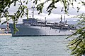 US Navy 050425-N-8937A-020 The Emory S. Land class submarine tender USS Frank Cable (AS 40) departs Pearl Harbor following a port visit.jpg