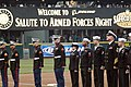 US Navy 060406-N-2746V-069 Members of the U.S. Marine Corps and Navy are honored during the Seattle Mariners 4th annual Boeing Salute to Armed Forces Night at Safeco Field.jpg