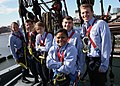 US Navy 060522-N-5367L-004 U.S. Naval Academy midshipmen relax on USS Constitution's main fighting top nearly 70 feet above the spar deck.jpg