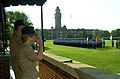 US Navy 060629-N-3241S-538 Director, Navy Staff Vice Adm. Ann Rondeau, reviews a pass-in-review ceremony held on Ross Field.jpg