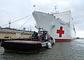 US Navy 070615-N-8933S-088 Military Sealift Command hospital ship USNS Comfort (T-AH 20) gets underway to take part in a multi-month humanitarian assistance deployment to the U.S. Southern Command area of responsibility.jpg