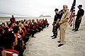 US Navy 070720-N-0696M-088 Chief of Naval Operations (CNO) Adm. Mike Mullen prepares to secure students of Basic Under Water Demolition Seal Training (BUDS) Class 266 from the Hell Week portion of their training.jpg