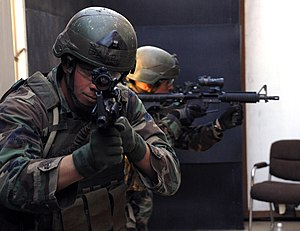 Bias against left-handed people - A US Navy SEALs left-handed shooter