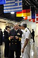 US Navy 090506-N-8273J-114 Chief of Naval Operations (CNO) Adm. Gary Roughead speaks with director of Naval Nuclear Propulsion Adm. Kirkland Donald during the 1000th OHIO-Class Strategic Deterrent Patrol Ceremony at the Washing.jpg
