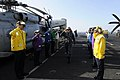 US Navy 100106-N-3038W-023 Rainbow side boys render honors to Chief of Naval Operations (CNO) Adm. Gary Roughead aboard the aircraft carrier USS Nimitz (CVN 68).jpg