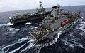 US Navy 110519-N-OY799-385 The Nimitz-class aircraft carrier USS John C. Stennis (CVN 74) transits the Pacific Ocean alongside the Military Sealift.jpg