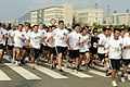 US Navy 110815-N-XG305-719 Sailors from the USS Blue Ridge and Republic of Korea sailors compete in a 5-kilometer friendship run.jpg