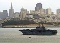 US Navy 111005-N-CJ186-078 The amphibious assault ship USS Bonhomme Richard (LHD 6) arrives in San Francisco, signaling the beginning of San Franci.jpg