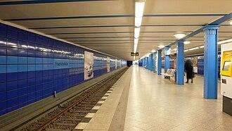 Friedrichsfelde (Berlin U-Bahn) - Platform view