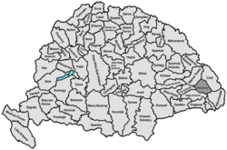 Location of Udvarhely