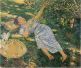 Under the Shade of a Tree by Kuroda Seiki (Woodone Museum of Art).png