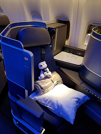 United Airlines - United Polaris business class seat on the Boeing 777-300ER
