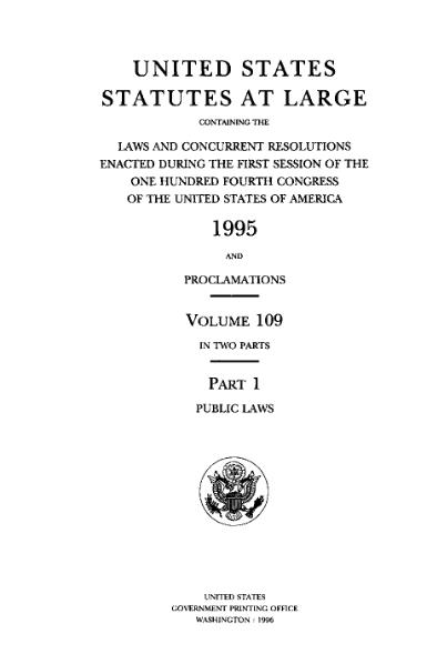 File:United States Statutes at Large Volume 109 Part 1.djvu