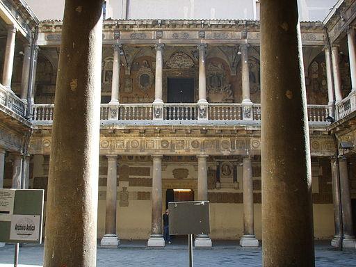 Universita di Padova, palazzo bo, cortile 01