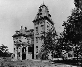 University of Utah - University Hall in Salt Lake City, the first permanent home of the University of Deseret (later the University of Utah)