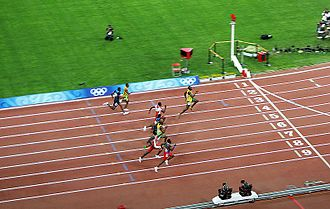 100 metres - Usain Bolt breaking the world and Olympic records at the 2008 Beijing Olympics
