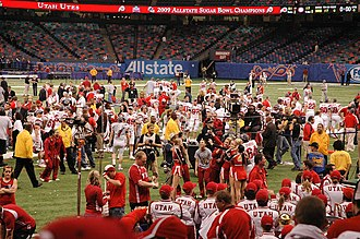 2008 Utah Utes football team - The Utes talk to the media after winning the Sugar Bowl
