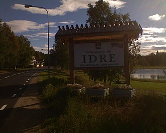 Idre - Welcome sign