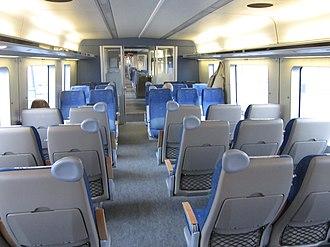 Regina (train) - Image: Västtrafik X50 interior