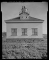 VIEW FROM ISLAND, SHOWING NORTH FACADE, LOOKING SOUTH - Cape Arago Lighthouse, Gregory Point, Charleston, Coos County, OR HABS OR-189-8.tif