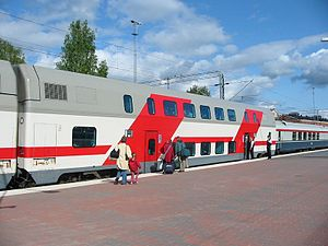 Transtech (Finnish company) - VR Class Edfs (InterCity 2) double-deck carriage built at Otanmäki by Talgo Oy (now Transtech Oy).