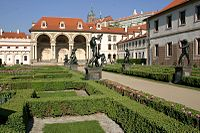 The Prague Declaration was signed in Wallenstein Palace, seat of the Czech Senate